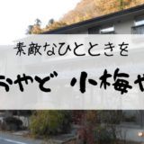 【おやど 小梅や】那須塩原に泊まるならココ!癒やされるし、ご飯も美味【写真多め】